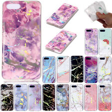 Laser Plating Marble Soft TPU Case Cover For Huawei Y3 Y5 Y6 2018 Nova2S Honor10