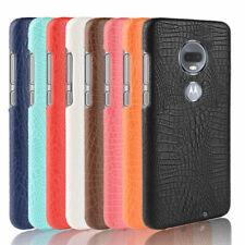 Per Motorola Moto G7 Plus/CROCO di potenza/Play PU Pelle Case antiurto copertura posteriore