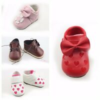 "Newborn Reborn Baby Toddler Girl Boy Doll Crib Shoes Handmade For 20-22"" Dolls"