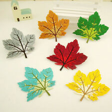 maple leaf iron on/sew on embroidered patches applique diy Decorate clothes hat