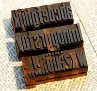 a-z Holzbuchstaben 27mm Plakatlettern Buchstaben imprimerie  Alphabet imprimeur