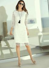 ALESSA W WHITE LACE DRESS SIZE 12 NEW