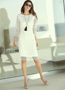 ALESSA W WHITE LACE DRESS SIZE 12 NEW RRP £71.00