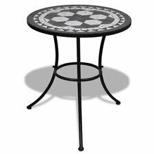 Mozaïektafel 60 cm zwart/wit bistrotafel mozaïek mozaiek bistro tafel tafeltje