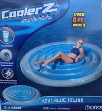 BESTWAY Coolerz H20GO 2.67m di diametro Aqua Blue Isola Galleggiante Float SUN BED