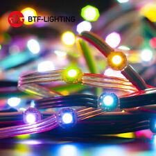 WS2812B RGB 50LED Pixel Module Fairy String Light Controller 5V Power Supply Set