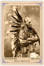LITTLE HORSE Oglala Sioux Vintage Photograph A++ Reprint Cabinet Card