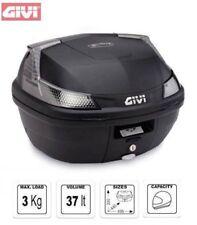 Monolock Topcase + Universalplatte B37 B37NT Givi schwarz + silber Reflektor NEU