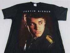 Womens Mens New Black Justin Bieber Face Photo Picture T-Shirt Size M Medium