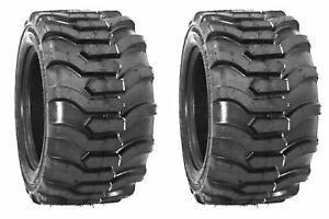 TWO 23X8.50-12 Tiron R4 Fits Kubota, John Deere Tires Skid Steer Compact Tractor