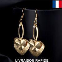Boucle d'oreille Coeur Femme Cadeau Bijoux Soirée Mariage Mode Fête Des Mères