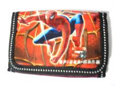 Dark Red Spider Man 3-fold Boy's Wallet Item 4449