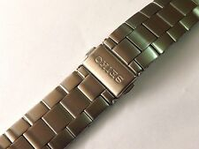 18MM SEIKO BRUSHED STAINLESS STEEL GENTS WATCH STRAP STRAIGHT END (SE4)