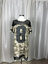H&M Divided Camo Dress Size 14