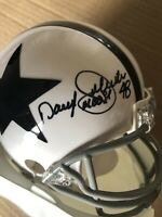 Daryl Johnston Signed TB  Cowboys Mini  'Moose' With Daryl Johnston Hologram