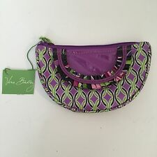 NEW Vera Bradley Purple Punch Frill Cosmetic  Case Jewelry Bag W/ Ruffle Retired