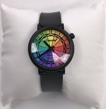 Rare Armitron Crayola Watch With Faceted Crystal And Color Wheel Dial