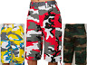 MEN CAMOUFLAGE CARGO SHORTS WITH BELT 11 COLORS SIZE 32~44