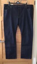 Men's M&S Indigo Blue Straight Jeans W44 L33 RRP £39.50.