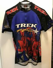 TREK Shooting Star S/S Polyester Cycling Jersey Adult Size M Made in USA GUC