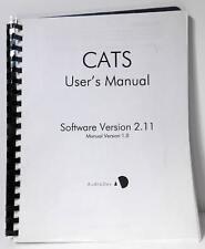 Audio Development CD CATS Version 2.11 Manual Version 1.0