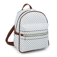 Women Girl Trendy Small Satchel Rucksack Shoulder School Backpack Modern Flair
