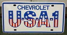 Vintage Original Chevrolet USA-1 Front Steel Booster License Plate MINT