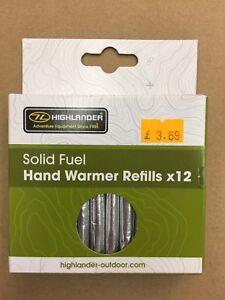 12 Solid Fuel Charcoal Handwarmer Refill Sticks Highlander Jack Pyke Hand Warmer