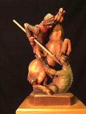 Rare Vintage Anri St. Saint George Carved Wood Figurine