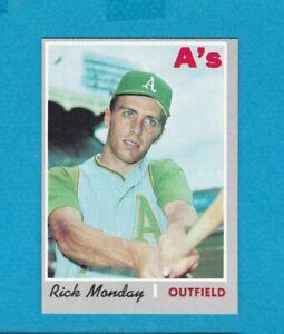 1970 TOPPS BASEBALL SET BREAK 547 RICK MONDAY A'S NM/MT