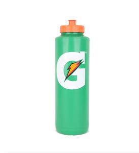 6 Pack Gatorade Green Water Bottle Squeeze Orange top 32oz Retro