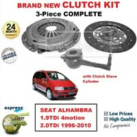 FOR SEAT ALHAMBRA 1.9TDi 4motion 2.0TDi 1996-2010 BRAND NEW 3PC CLUTCH KIT + CSC