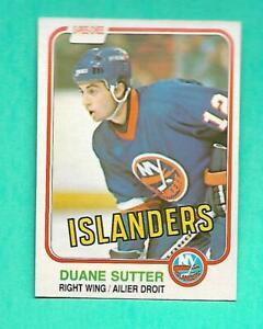 (1) DUANE SUTTER 1981-82 O-PEE-CHEE # 211 ISLANDERS ROOKIE NM CARD (V0418)