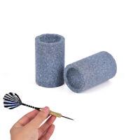 2pcs especial afilador de dardos gris dardos redondo afilado de piedra de ar~QA