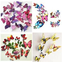 36pcs 3D Removable Butterfly Sticker Decal Wall Stickers DIY Room Home Decor