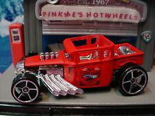 2014 Hot Wheels Rod BONE SHAKER☆Red/Blue☆Loose☆Chrome Skull Grill☆Road Roller