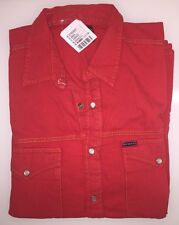 Urban Outfitters Urban Renewal Vintage Customised Heavy Cotton Shirt - Red M