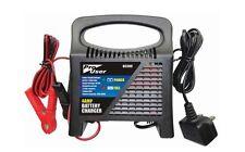 Heavy Duty 4A Amp 12V 6V Batería Cargador Goteo Booster coche vehículo 15-60AH