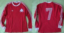 Maillot Adidas SUISSE vintage #7 manche Longue SFV ASF Swiss Football shirt - L