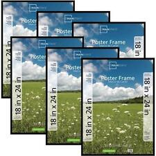 Poster Frame Photo Picture Pocket Plastic Cover 18x24 Decor, Set of 6, Black