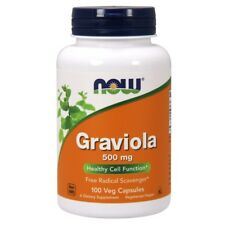 Now Foods GRAVIOLA 500 mg - 100 caps POSITIVE MOOD, IMMUNE & CELL SUPPORT