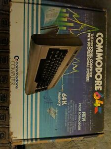 Commodore 64K Computer. Original Box/Packaging. Very Good, Untested Condition