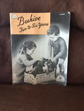 BEEHIVE 2-6 Years VINTAGE Crochet and Knitting Magazine w/ Patterns 1950's