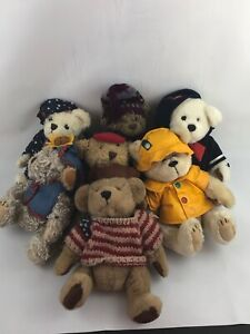 The Brass Bear Collection Pickford Bears Lot of 7 - Vintage Bears c. 1990s