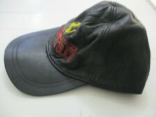 Ferrari: a leather made baseball cap with  logo,  90's.
