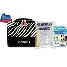 Gabag Milk Cooler Bag with Pack of 30 Breastmilk Bags and Ice Gel Pack - Zebra