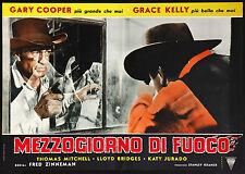 CINEMA-fotobusta MEZZOGIORNO DI FUOCO cooper,g.kelly, bridges,  FRED ZINNEMAN