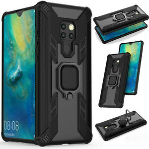 Magnetic Ring Case for Huawei P30 Y9 Mate 30 P Smart Armor Stand Bumper Cover
