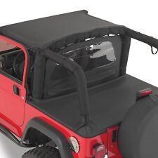 Jeep Wrangler YJ TJ LJ Wind Breaker 1976-2006 Denim Black Smittybilt 90015