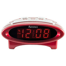 "4229 Advance Time Technology Electric 0.7"" LCD Display Digital Alarm Clock - Red"